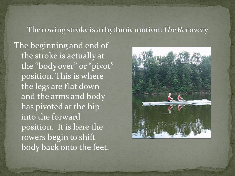 The beginning and end of the stroke is actually at the body over or pivot position.