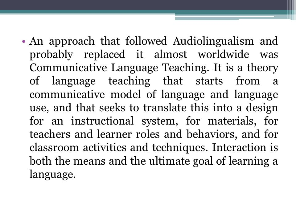 Other methodological propositions for foreign language learning came up from the mid-twentieth century up to the 1980s and I will briefly mention some.
