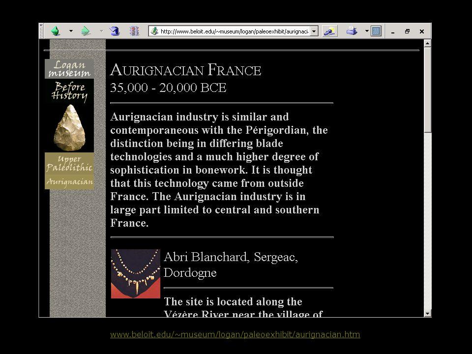 www.beloit.edu/~museum/logan/paleoexhibit/aurignacian.htm