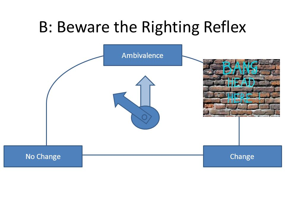 No ChangeChange Ambivalence B: Beware the Righting Reflex