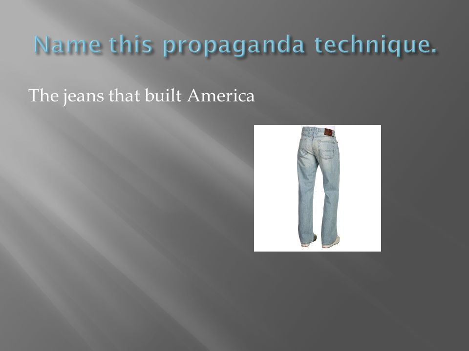 The jeans that built America