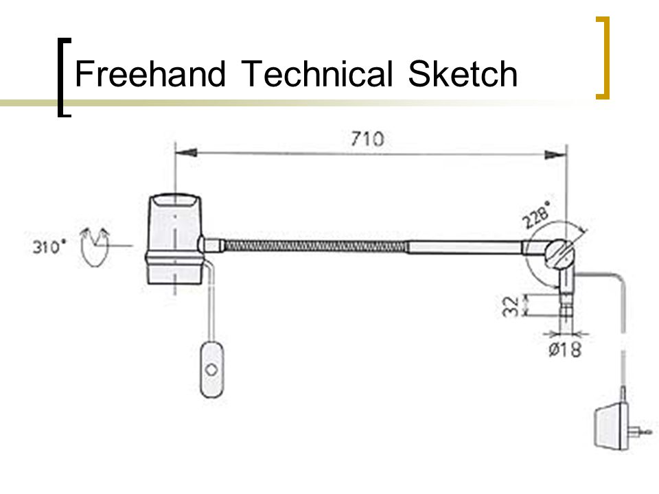 Freehand Technical Sketch