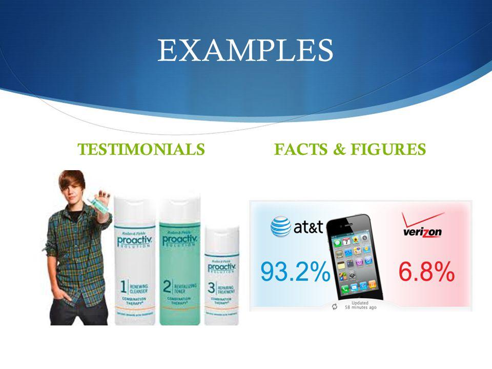 EXAMPLES TESTIMONIALSFACTS & FIGURES