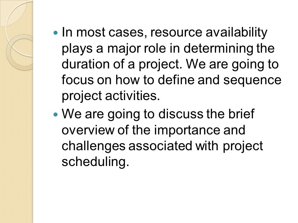 Creating a Work Breakdown Structure (WBS) The output that results from the process of dividing the entire project into manageable tasks (usually presentedas a hierarchival chart or in tabular form) The purpose of WBS is to serve as an aid in illustrating the projects scope and describing the activities necessary for creating various subcomponents of the project.