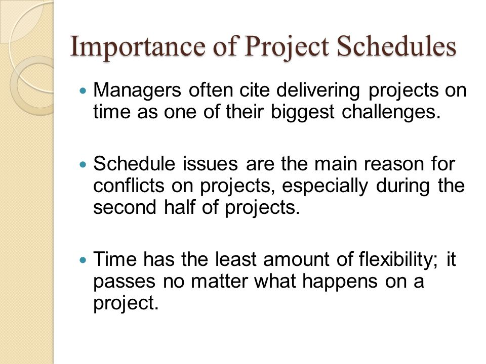 It is really possible to mention about Project Schedules in every phases of the project.