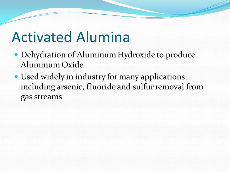 Advantages/Disadvantages Advantages Very effective (80-90% removal of Fluoride) High mechanical strength and thermal stability Disadvantages Effectiveness dependent upon pH Many factors which may inhibit removal (hardness, high level of silica or boron) Maintenance is required and is expensive