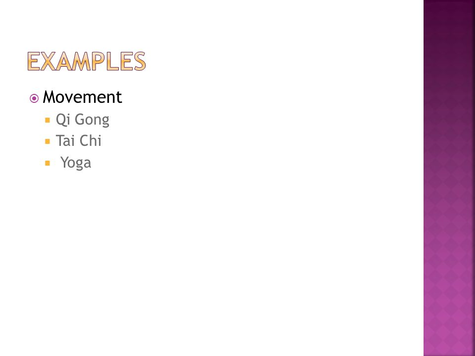 Movement Qi Gong Tai Chi Yoga