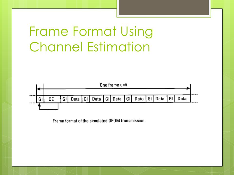 Frame Format Using Channel Estimation