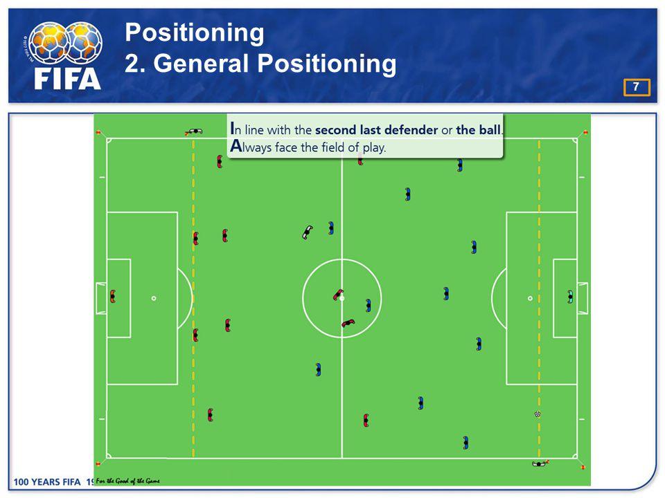 8 Positioning 3. Goal kick