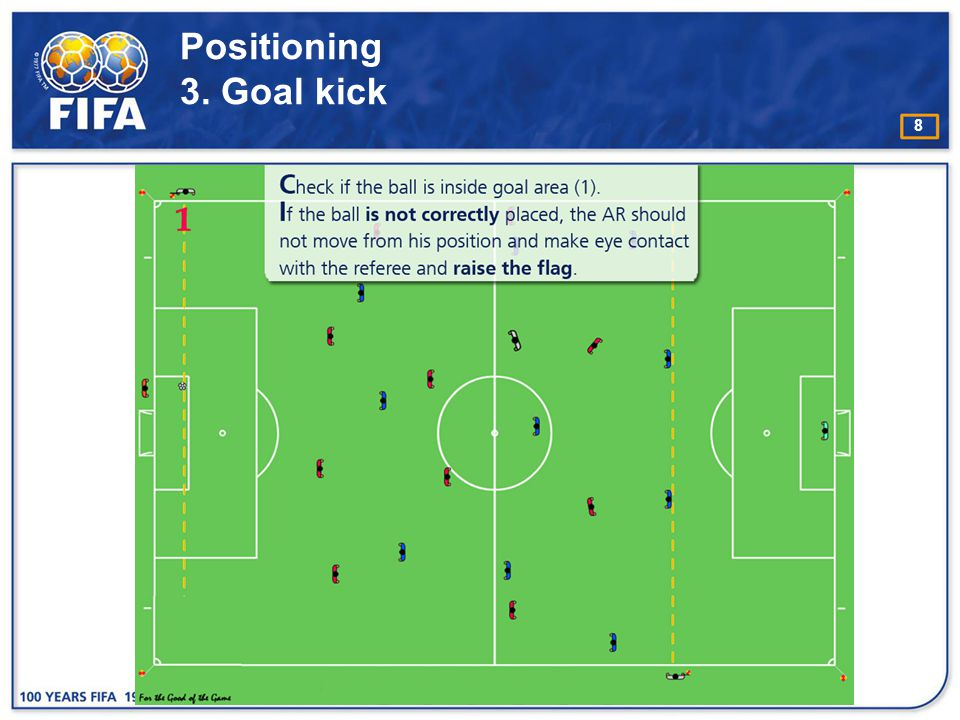 19 Running Technique A s a general rule the assistant referee should face the pitch whilst running.