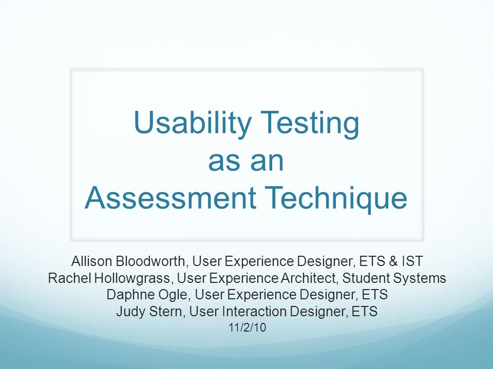Usability Testing Tasks You are the Webcast Administrator at your university.