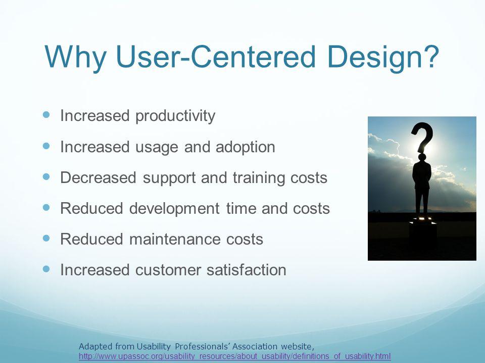 Why User-Centered Design.