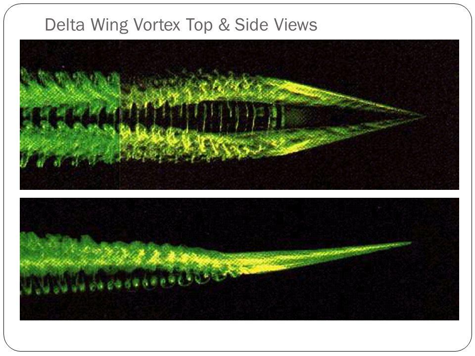 Delta Wing Vortex Top & Side Views