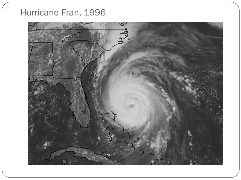 Hurricane Fran, 1996