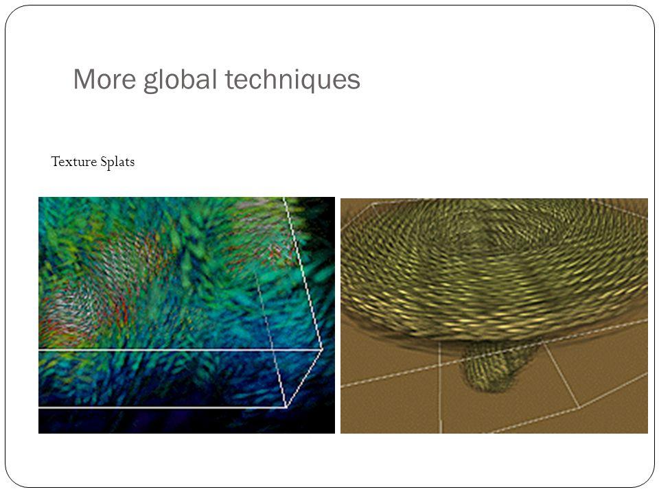 More global techniques Texture Splats