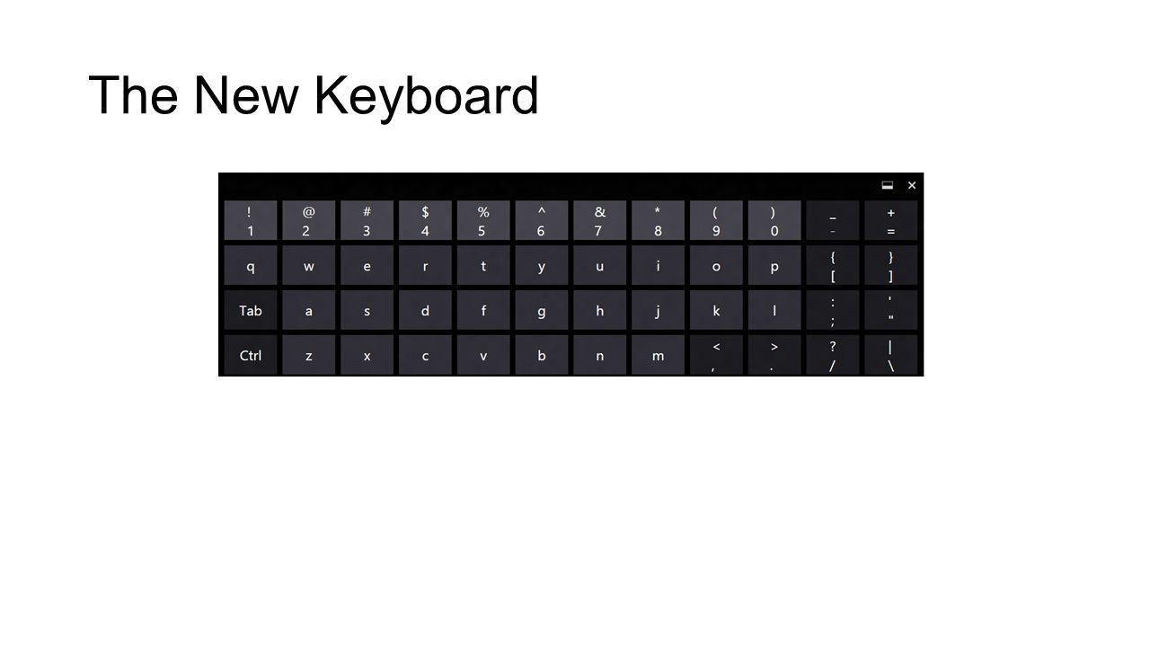 The New Keyboard