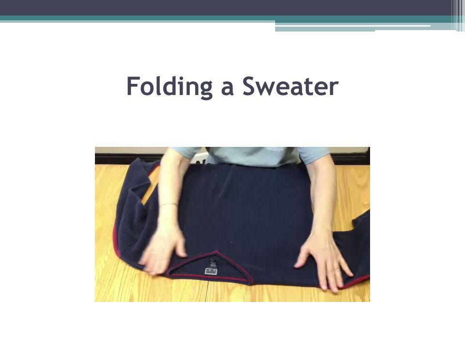 Folding a Sweater