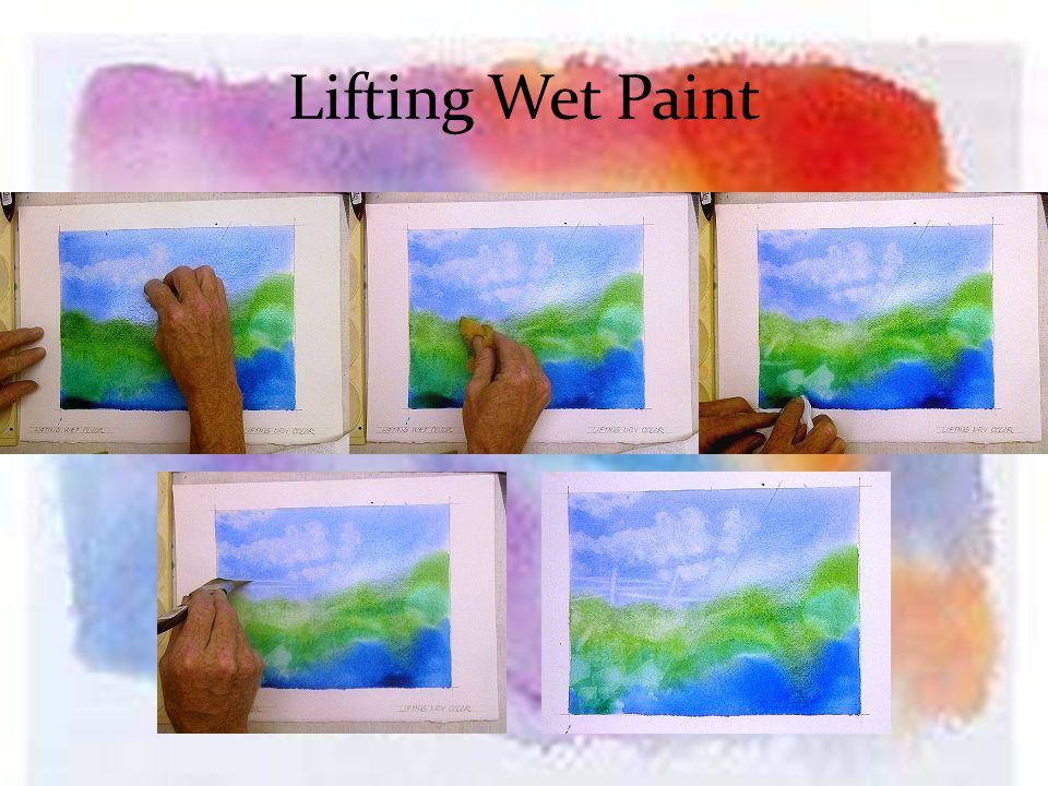 Lifting Wet Paint