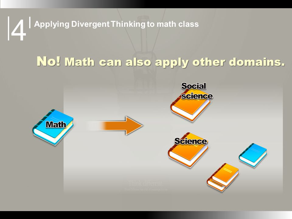 No! Math can also apply other domains.