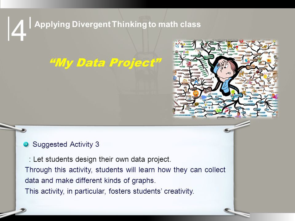 My Data Project Suggested Activity 3 : Let students design their own data project.