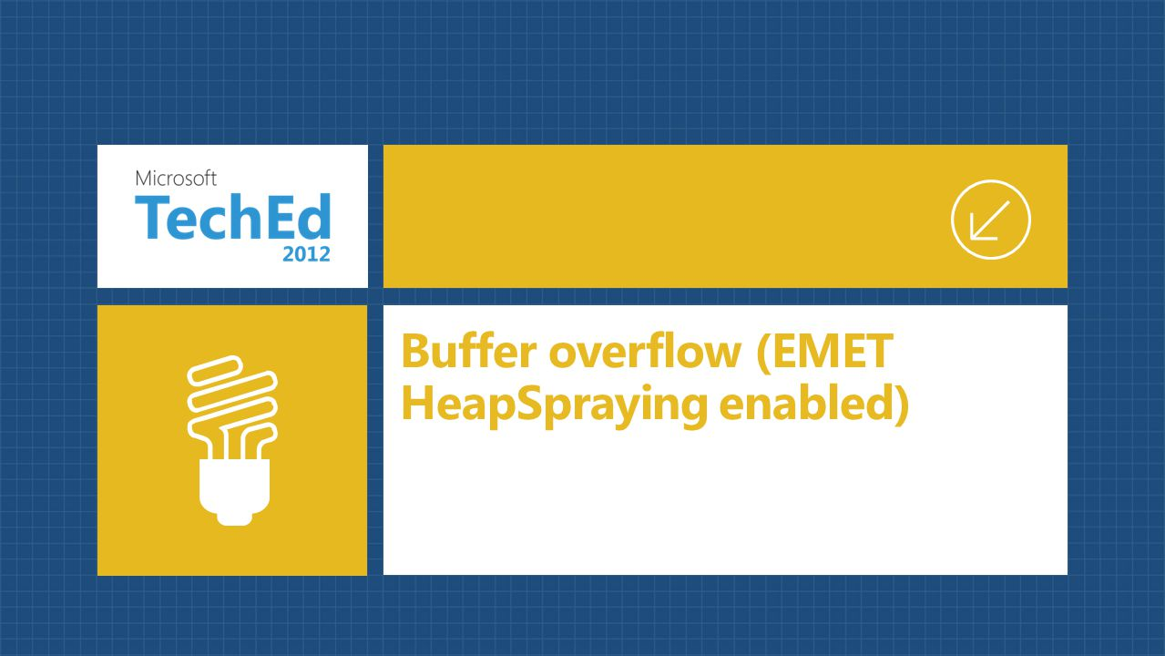Buffer overflow (EMET HeapSpraying enabled)