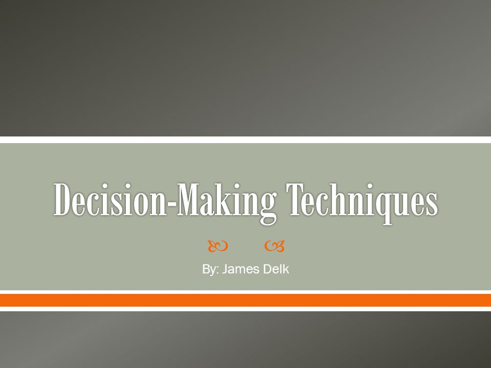 Decision making is the study of identifying and choosing alternatives based on the values and preferences of the decision maker.