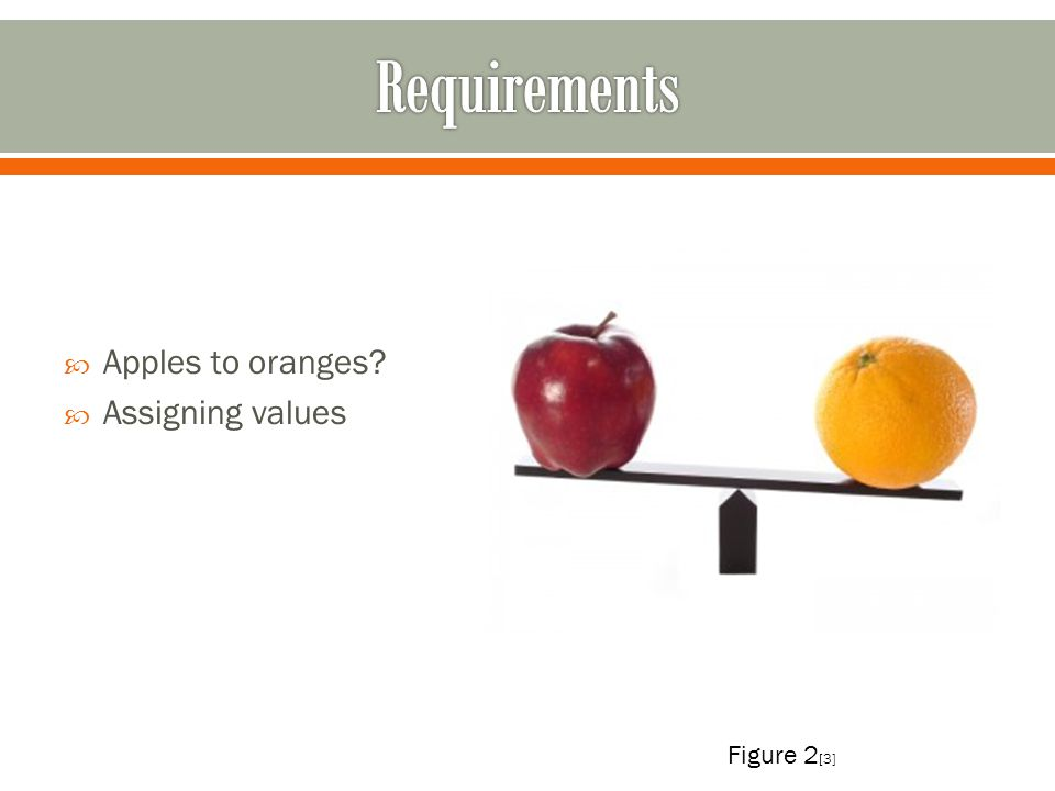 Apples to oranges? Assigning values Figure 2 [3]