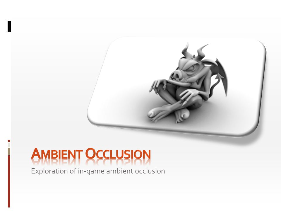 Exploration of in-game ambient occlusion
