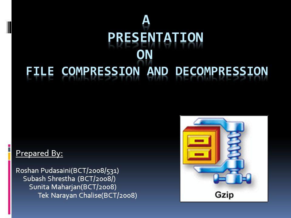 GZIP COMPRESSION Lempel-Ziv + Huffman Algorithm A lossless Compression Technique