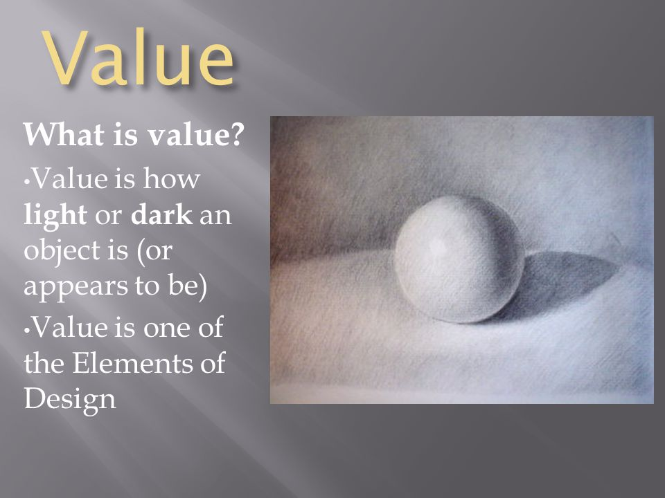 Value What is value.
