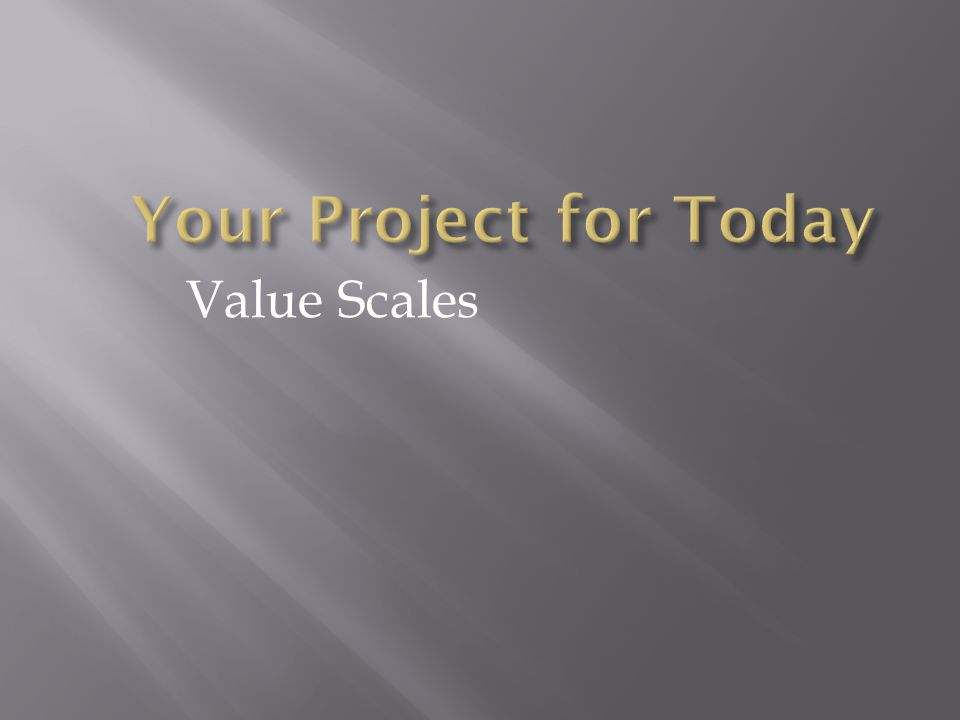 Value Scales