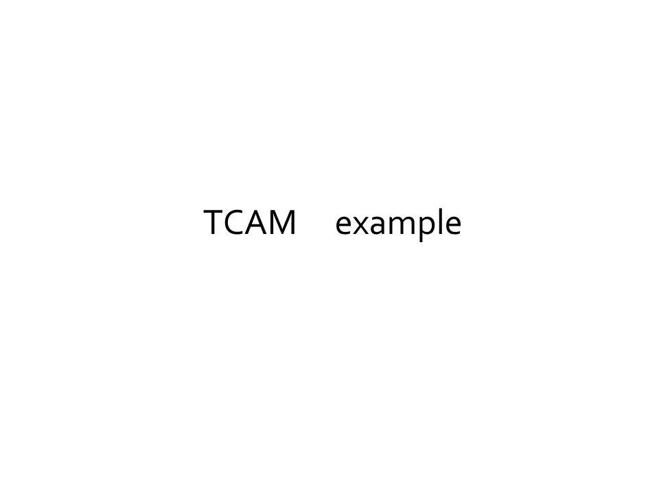 TCAM example