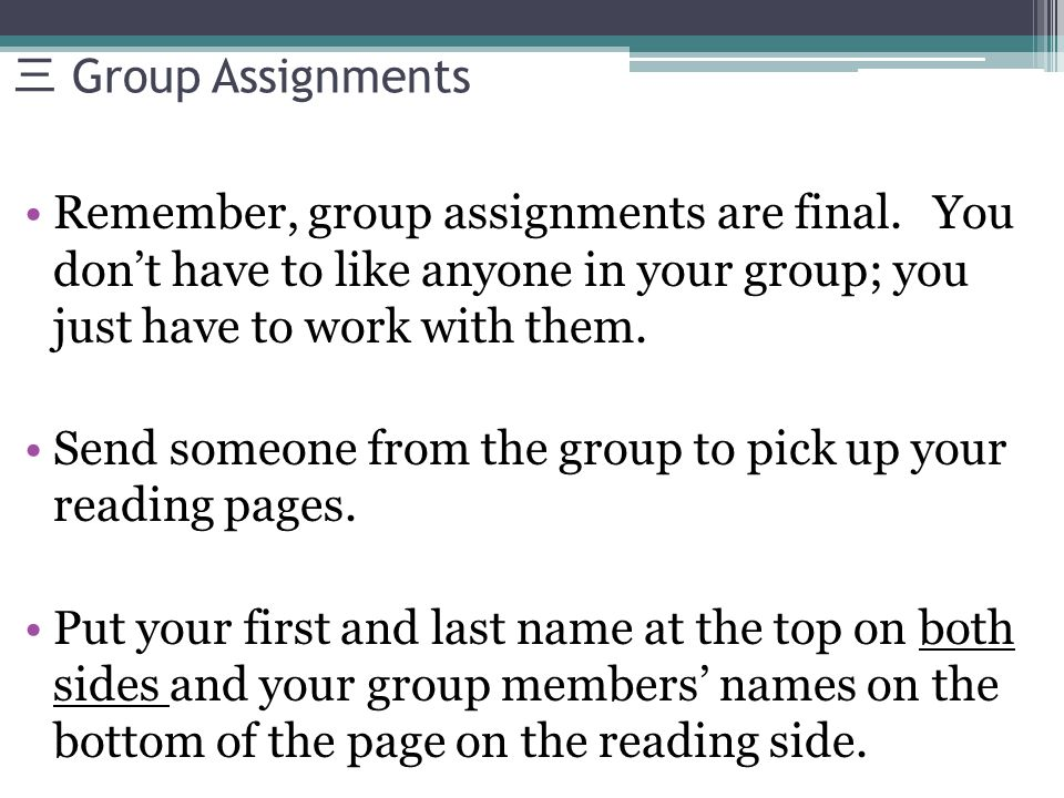 Reading 1: Enlightenment The group leader reads the first paragraph on the first page and the group follows along.