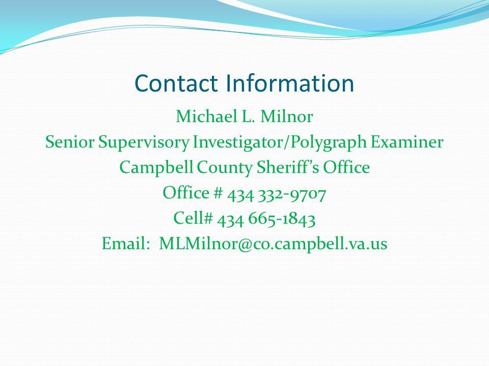 Contact Information Michael L.