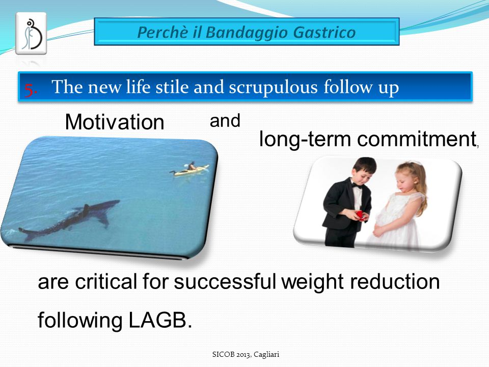 SICOB 2013, Cagliari are critical for successful weight reduction following LAGB.