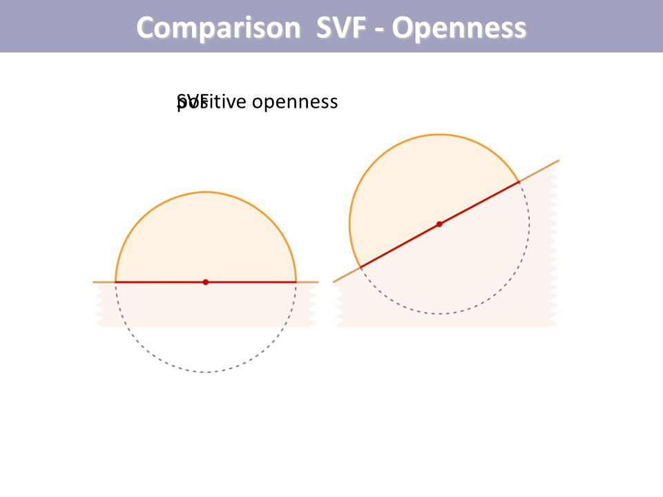 Comparison SVF - Openness SVFpositive openness