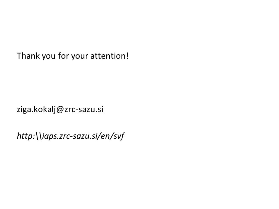 Thank you for your attention! ziga.kokalj@zrc-sazu.si http:\\iaps.zrc-sazu.si/en/svf