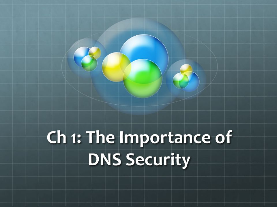 Ch 1: The Importance of DNS Security