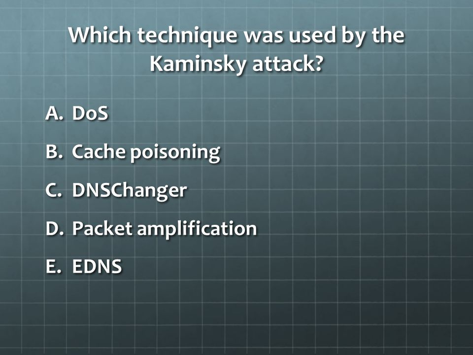 Which technique was used by the Kaminsky attack.