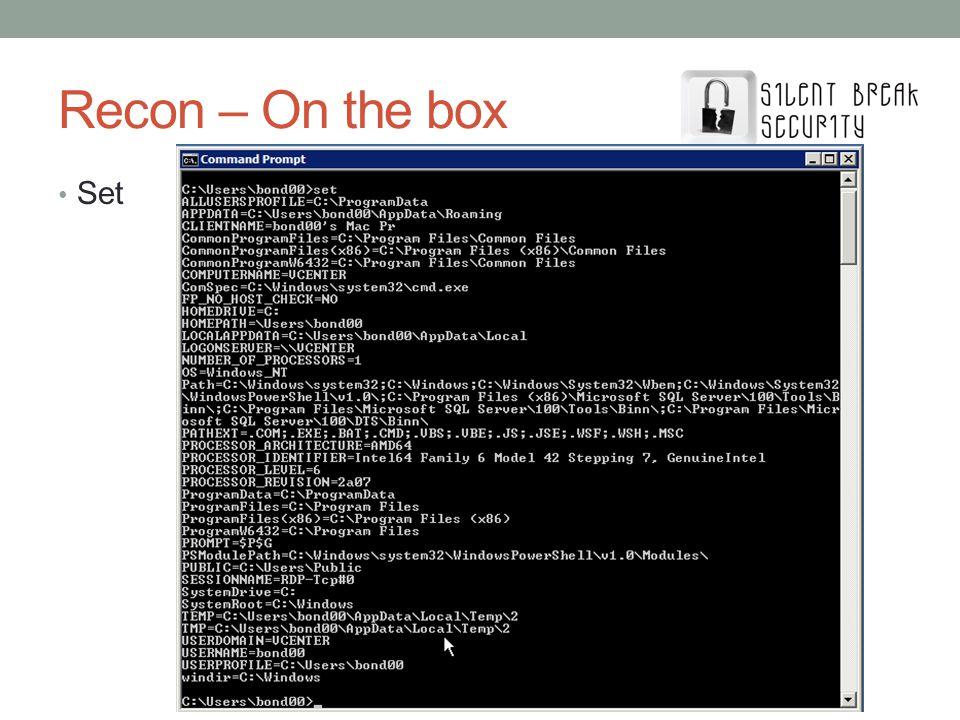 Recon – On the box Set