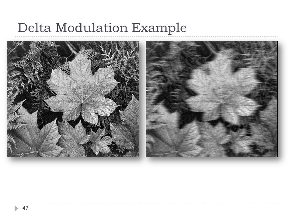 Delta Modulation Example 47