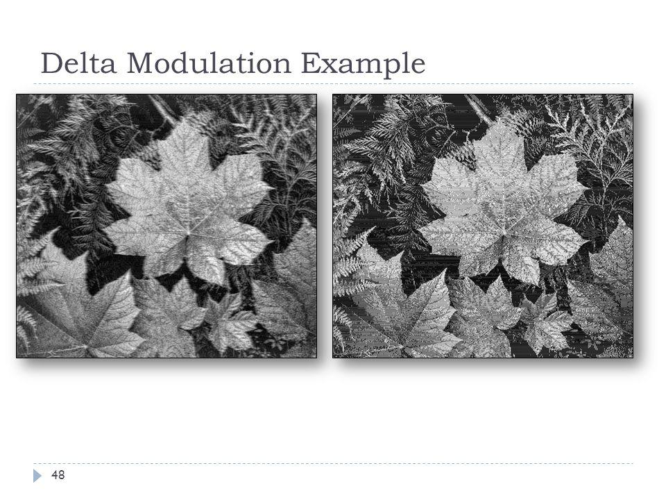 Delta Modulation Example 48