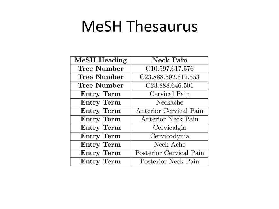 MeSH Thesaurus