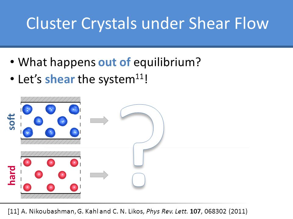 Cluster Crystals under Shear Flow What happens out of equilibrium.
