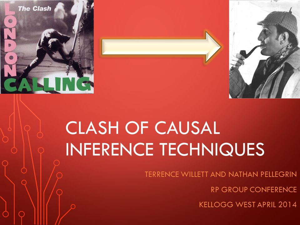 CLASH OF CAUSAL INFERENCE TECHNIQUES TERRENCE WILLETT AND NATHAN PELLEGRIN RP GROUP CONFERENCE KELLOGG WEST APRIL 2014