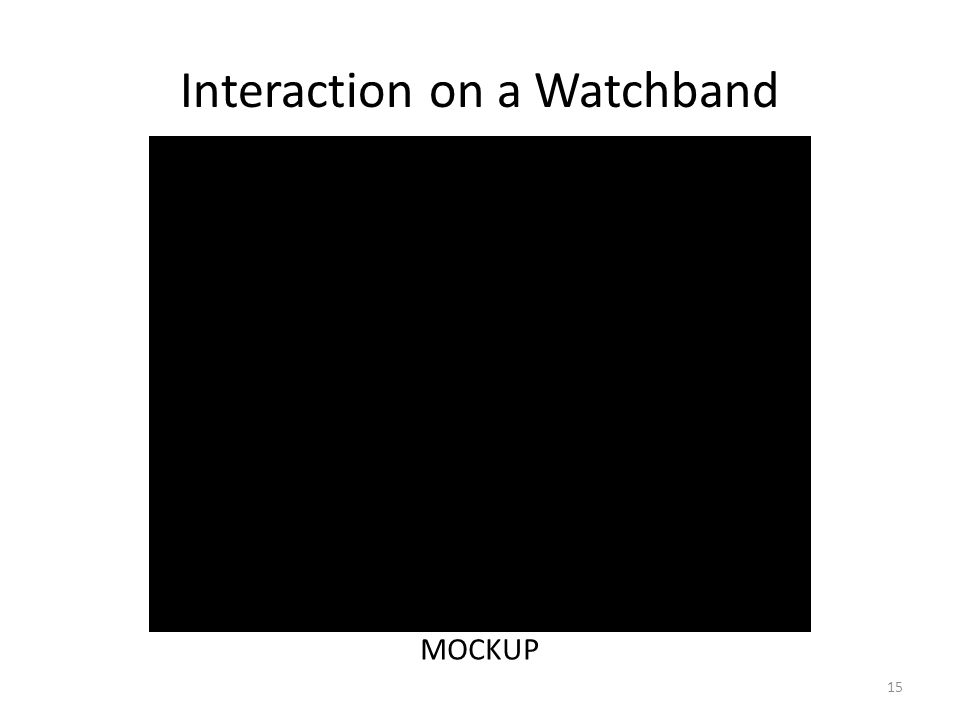 Interaction on a Watchband 15 MOCKUP