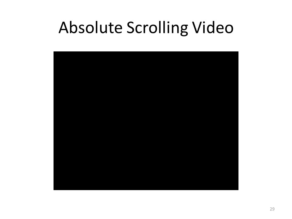 Absolute Scrolling Video 29