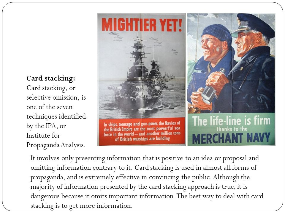 Glittering Generalities: Glittering generalities was one of the seven main propaganda techniques identified by the Institute for Propaganda Analysis in 1938.