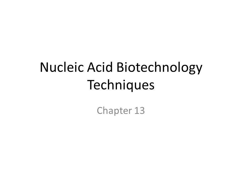 Nucleic Acid Biotechnology Techniques Chapter 13