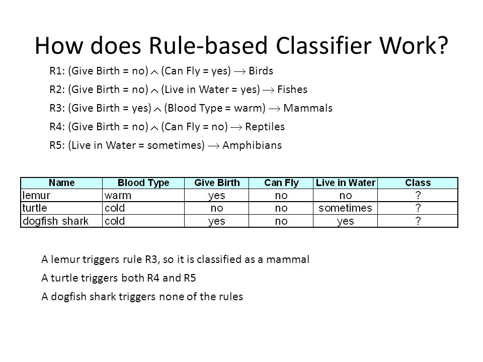 Rule Growing Two common strategies